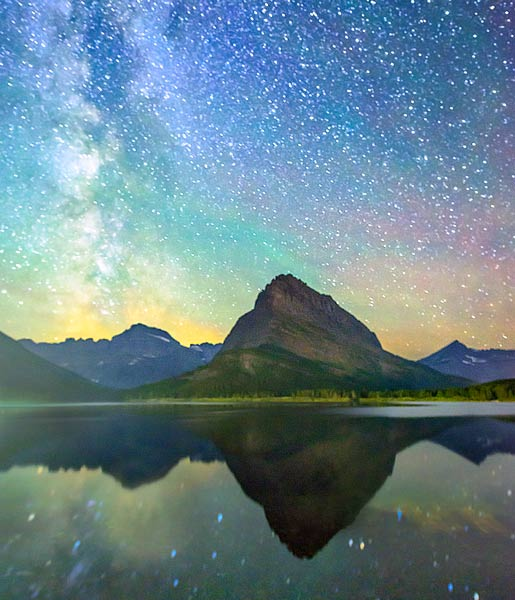 Glacier National Park Milky Way