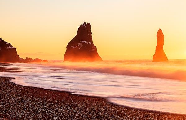 Winter Sunrise Iceland Beach