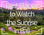 Best Places to Watch Sunrise Bali