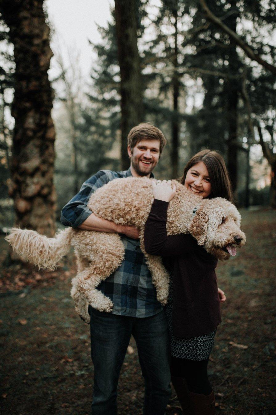 engaged couple portrait photoshoot