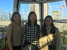 On the London Eye!