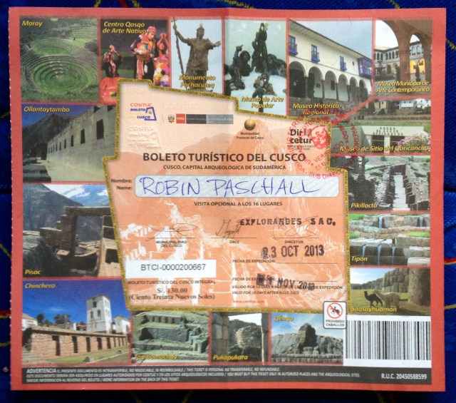 Cusco/Sacred Valley Tourist Ticket