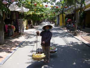 Street scene in Hoi An's old quarter