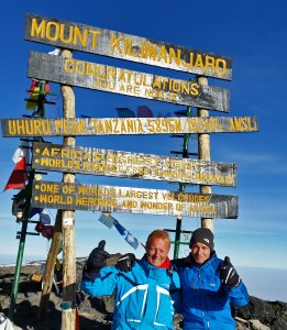Kilimanjaro Summit Sign from September 2014