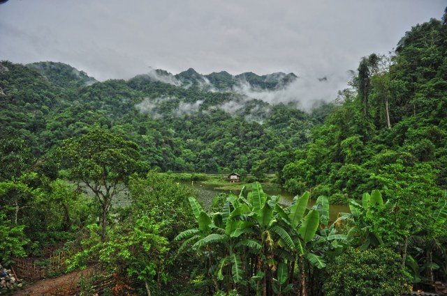 View from a Vietnamese mountain homestay