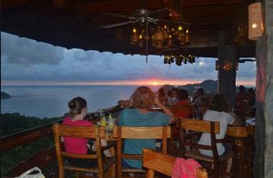 Sunset dinner at El Avion in Manuel Antonio