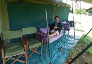 Taking a break at Halisi Serengeti