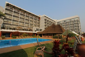 Mille Collines Hotel in Kigali and swimming pool