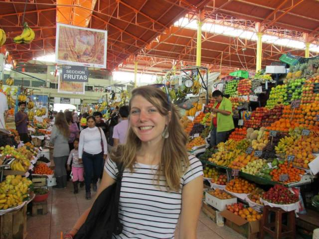 Gretchen at Mercado Central, Arequipa