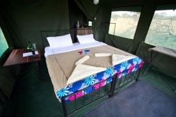 Spacious tents with private bathroom.