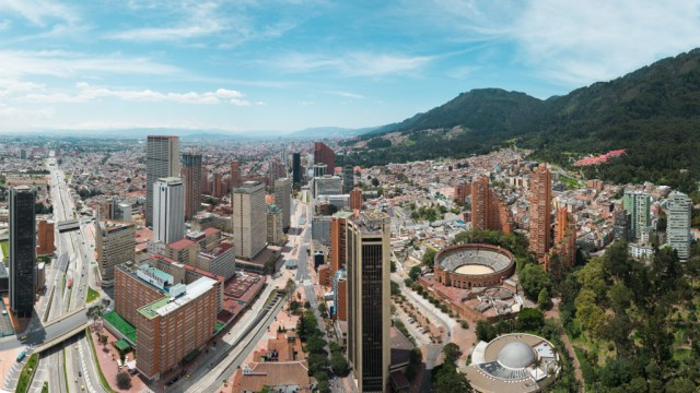Panoramic View of Bogota