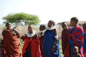 Maasai on Safari