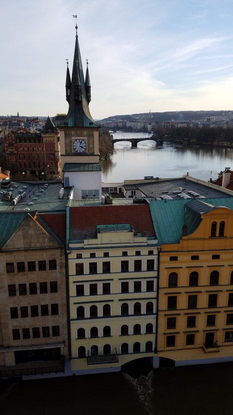View from Old Town Bridge Tower | Charles Bridge, Prague | Adventures with Shelby