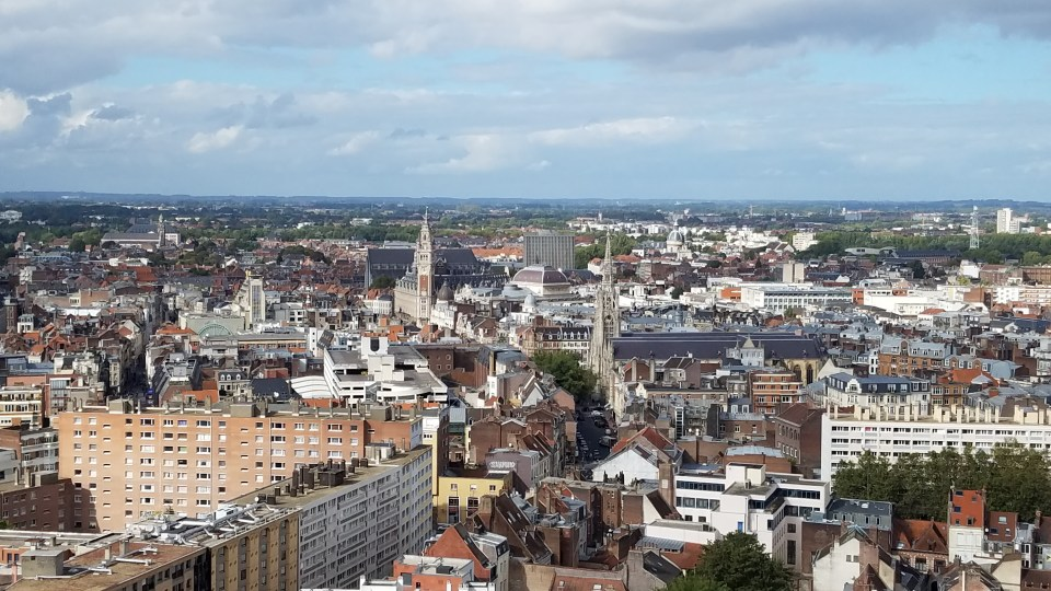 View from Lille's Hôtel de Ville | Adventures with Shelby