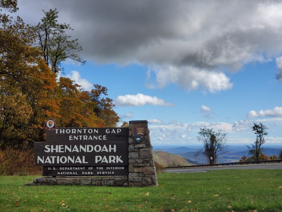 Thornton Gap Entrance to Skyline Drive | Adventures with Shelby