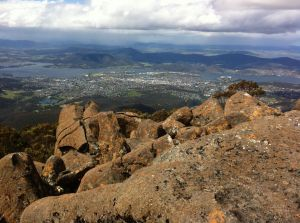 Hobart and South East Tasmania from the summit of kunanyi / Mount Wellington