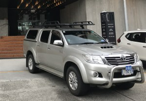Adventure Trails Tasmania uses a dual cab Toyota HiLux that offers a comfortable ride for up to three passengers while combining comfortable highway travel with the capacity to easily and safely get the main roads