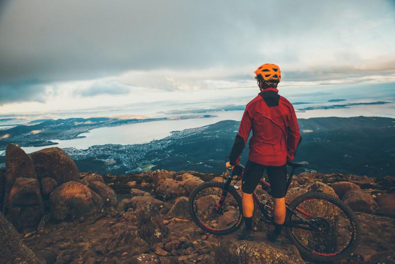 Mountain biking, Mt Wellington / kunanyi summit - Photo Flow Mountain Bike