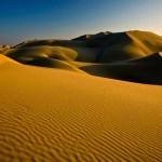 Duna de arena del desierto de Paracas