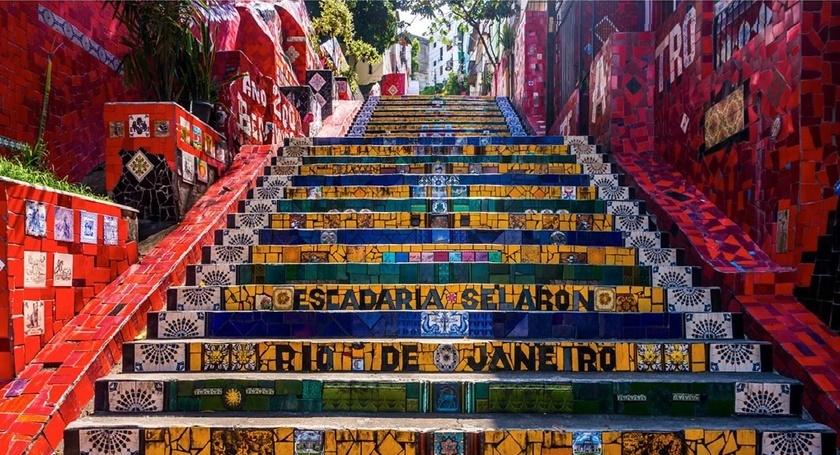 Las escaleras de Selaron son ahora un punto de referencia de Río de Janeiro.