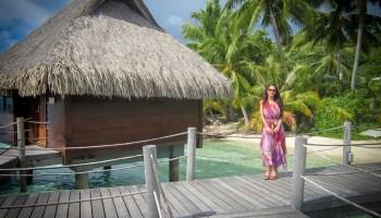 A girl in Bora Bora Island