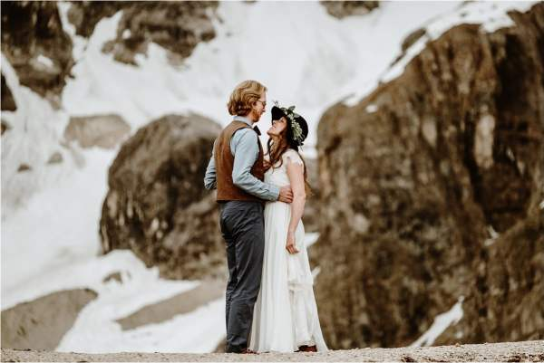 Elopement photography in the Dolomites