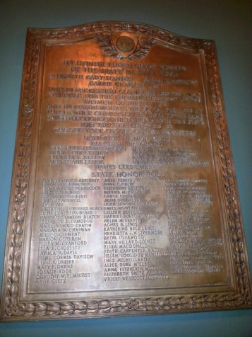 This tablet is located on the wall in the main lobby of the State Capitol Building.
