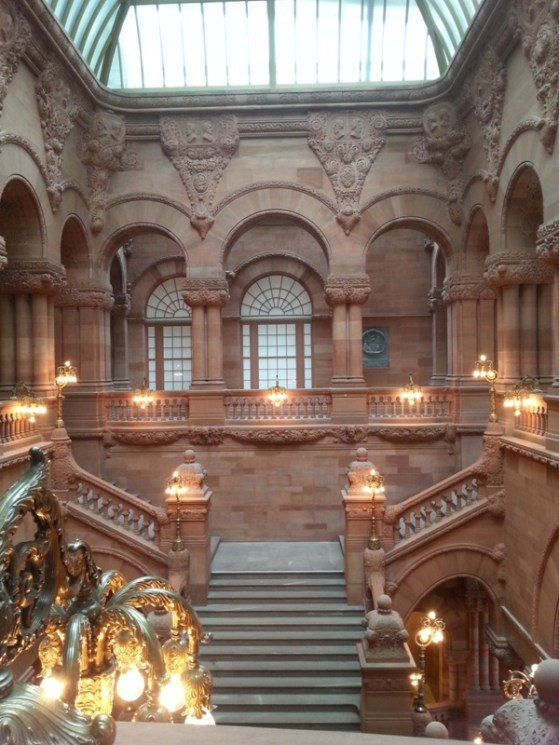 "Another view of the ""Million Dollar Staircase."" It took 14 years to complete and used sandstone from Scotland."