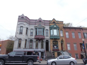 A group of houses located on Lark Street. This street is the art hub of Albany, NY.