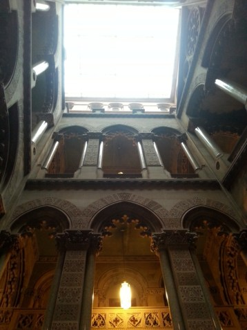 This is the Senate Staircase. Also designed by Leopold Eidlitz and has Moorish Gothic features like the arches and the carved motifs in the Scottish sandstone.