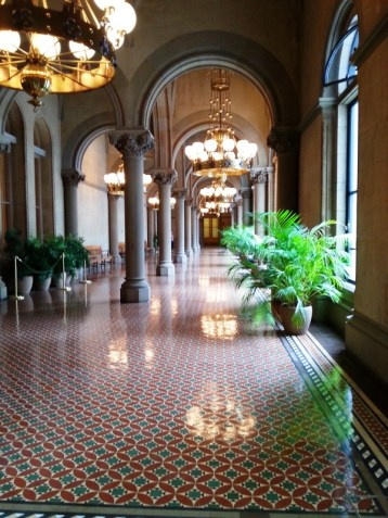 This is the Upper Senate Corridor. So you would walk out of the Senate Gallery into this area.
