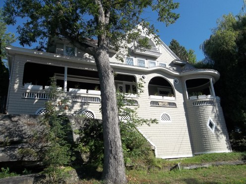 This home is a summer cottage located in Thousand Island Park on Wellesley Island.