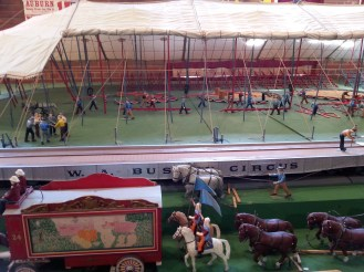 This miniature view of circus is located in the Arts and Home Center.