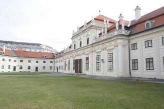 This is the actual Lower Belvedere building. This building was part of the estate of Prince Eugene of Savoy, an extremely important general during the wars against the Ottoman Empire. The palaces were designed in part by Johanne Lukas von Hildebrandt.