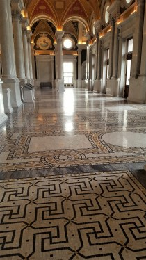 The floors on the second floor are a kaleidoscopic marble mosaic. They are amazing!
