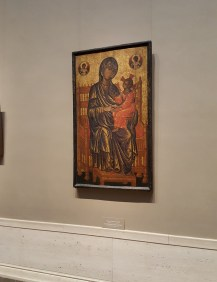 This artwork dates to the Byzantine Empire c. 1250/1275. I saw this in the first gallery I went into.
