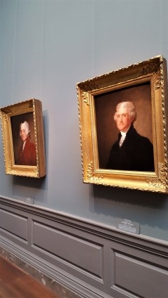 These are right next to the painting of Washington. These two portraits are also by Gilbert Stuart, they date to 1821 too.