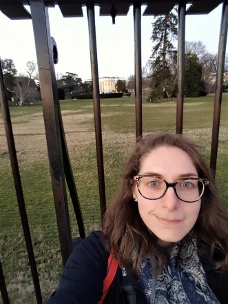 Have I discussed how bad I am at taking selfies...anyways. The White House has went through a lot in its existence: it was set on fire during the War of 1812, lots of interior renovations throughout the different presidencies, and then in the 1950's it was dismantled and pieced make together over a steel structural frame because it was in bad condition.