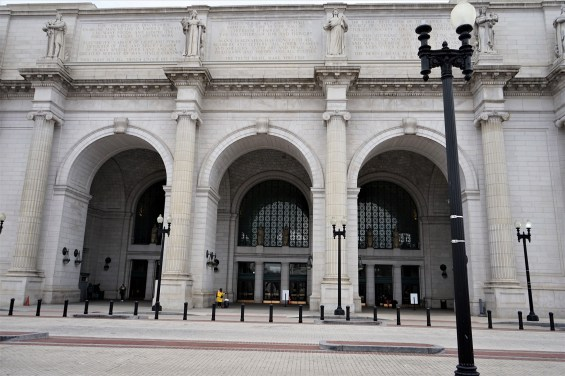 This is the front entrance of Union Station. This leads into the main hall, which originally was an open floor plan. Union Station is used daily by roughly 100,000 people and has access to 14 different types of transportation.