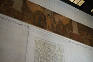 One of Jules Guerin's murals at the Lincoln Memorial. This is above the Emancipation Proclamation, which is located to the left of the Lincoln statue.