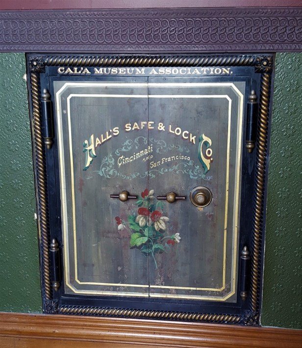 This wall safe is located in the old office room on the second floor!