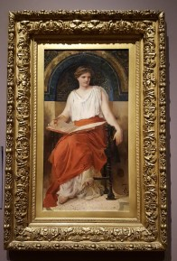 "Painted in the 1890's, this painting depicts one of the Greek Muses. The painting dates to a period of art in the United States called the ""American Renaissance."""