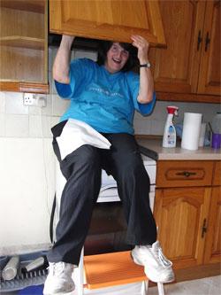 Mum cleaning