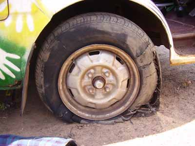 Blown Tyre