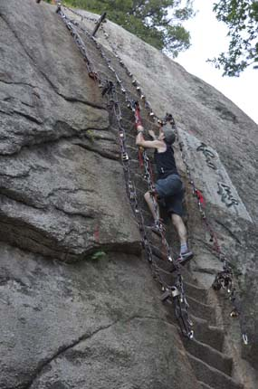 Steep Steps on Hua Shan