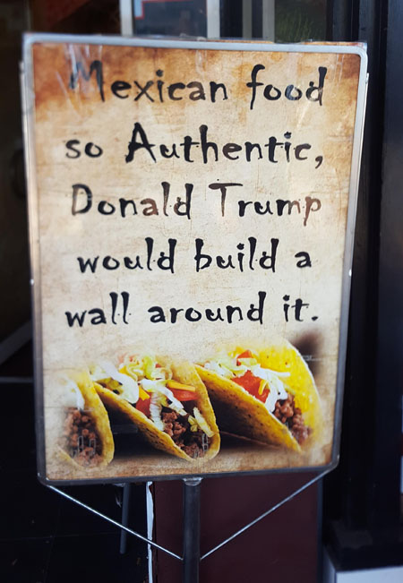 Mexican Food With Wall