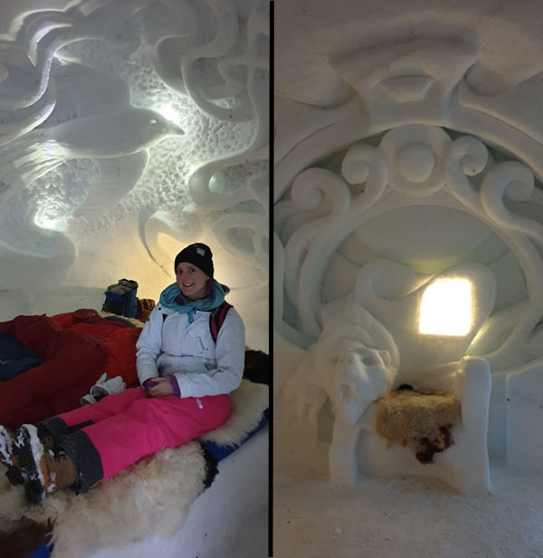 Inside the igloo