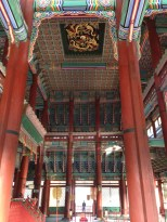 Gyeongbokgung Palace - main throne hall, dragons on the ceiling.