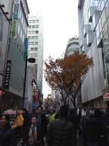 Myeong-dong main strip.
