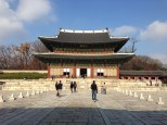 Main throne hall at Changdeokgung Palace.